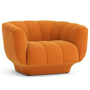 armchair seat furniture 3D