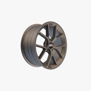 3D model bbs sr alloy wheel