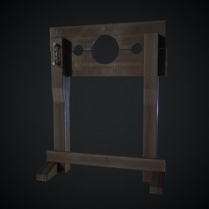 3D Medieval wooden pillory