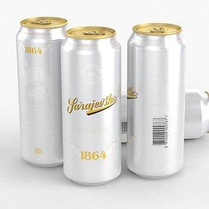 Beer Can Sarajevsko Svijetlo 500ml 2021 3D model