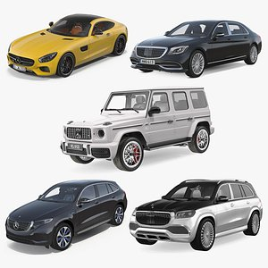 3D Mercedes Benz Cars Collection 2 model
