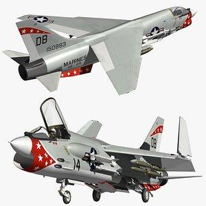 Vought F8 Crusader VMF235 3D