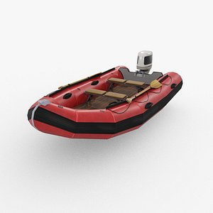 Inflatable rescue boat model