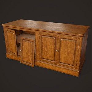3D Old Dresser - PBR Game Ready model