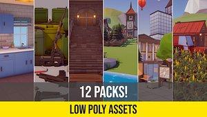 Low Poly Asset Bundle 3D