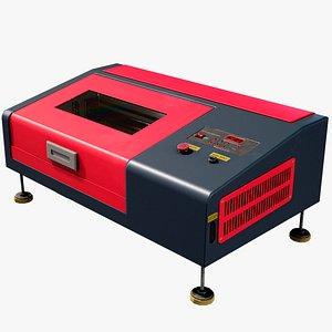 Industrial Laser Engraving Machine Lowpoly PBR model