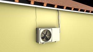 3D Window air conditioner model