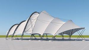 3D Tensile steel structure model