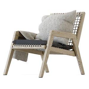 lounge wood outdoor 3D model