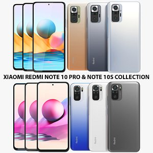 Xiaomi Redmi Note 10 Pro and Note 10S Collection 3D model
