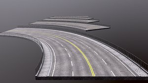 Modular highway 3D model
