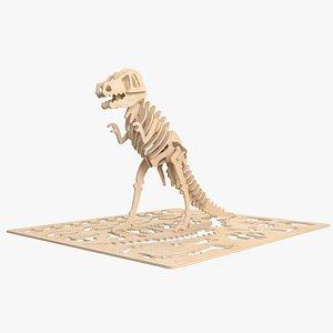 3D t-rex rex laser
