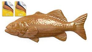 3D relief art fish model