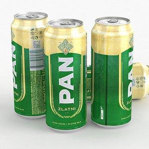 Beer Can PAN Zlatni 500ml 2021 3D model