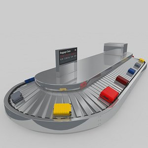 3D conveyor airport baggage adjustable model