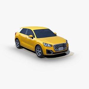 Audi Q2 2017 SUV 3D model