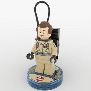 3D ghostbusters minifigure - peter model