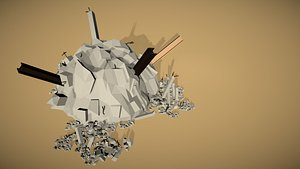 3D rubble debris trash model