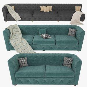 3D model chesterfield sofa furniture