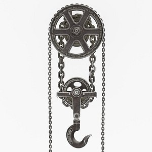 HOOK AND CHAINS 3D model