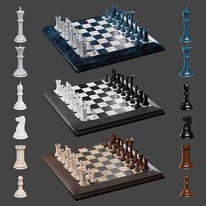 3D king white queen