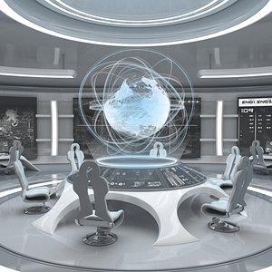 Sci-Fi Futuristic Command Room model