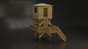 3D Lifeguard Hut