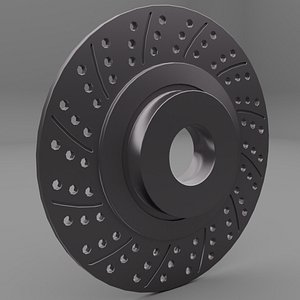 3D model disk brake car