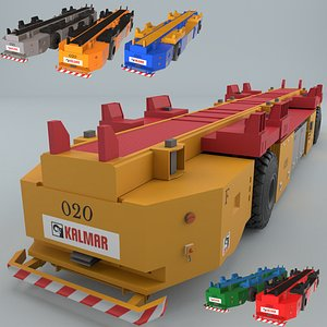 3D container agv model