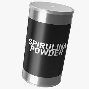 Spirulina Powder Jar 3D