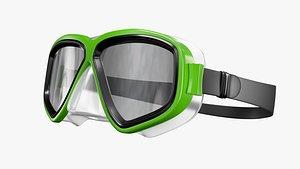3D Scuba Mask PBR model