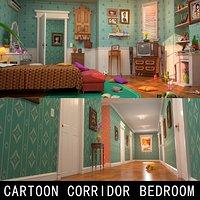 Cartoon Corridor Bedroom V2