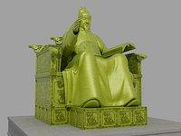 King Sejong Statue 3D