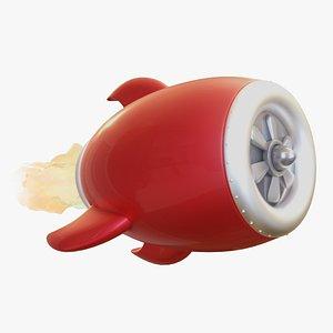 3D rocket engine model
