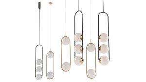 3D chandelier hoop duo
