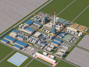 Factory Industrial Zone Chemical Factory Warehouse High-tech Zone Development Zone Factory Zone Fact 3D