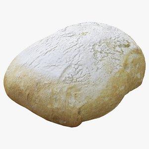 bread loaf food 3D