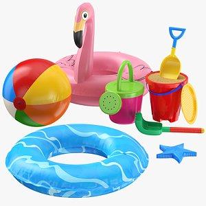 sand beach toy 3D model