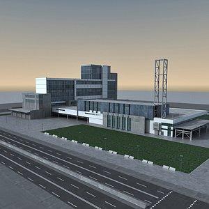 Modern Building 134 Scene 3D model