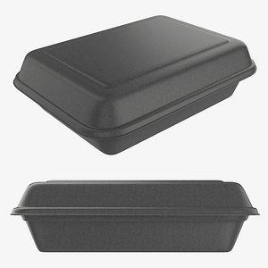 box lunch polystyrene 3D model