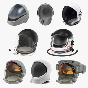 Space Helmets Collection 3 3D model