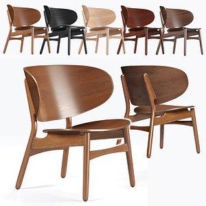 modern lounge chair hans wegner 3D model