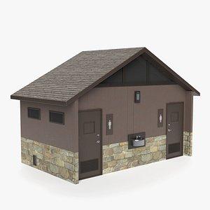3D outdoor restroom model