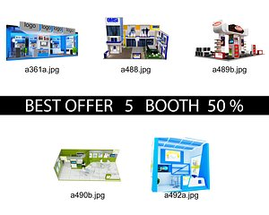 3D Booth Exhibition Stand c21