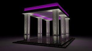 roman pergola 3D model