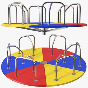 Merry Go Round 10 Foot Multicolored 3D