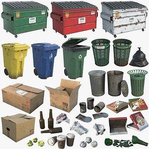 Dumpsters Bins And Trash UHD 3D
