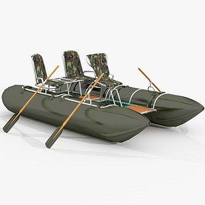 3D Three seets catamaran model