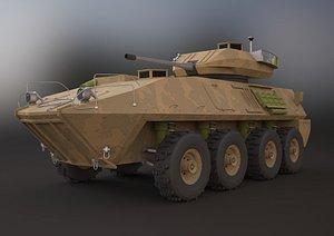 3D lav-25 military vehicle