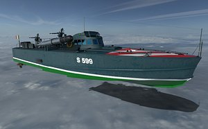 MAS - Italiano torpedo boat 3D model model